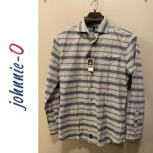 Men's Johnnie-O Long Sleeve Shirt - Large - Gray